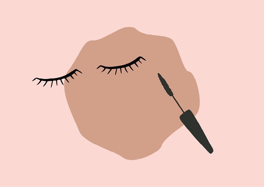 Curly, übervolle wimpers met CBD mascara